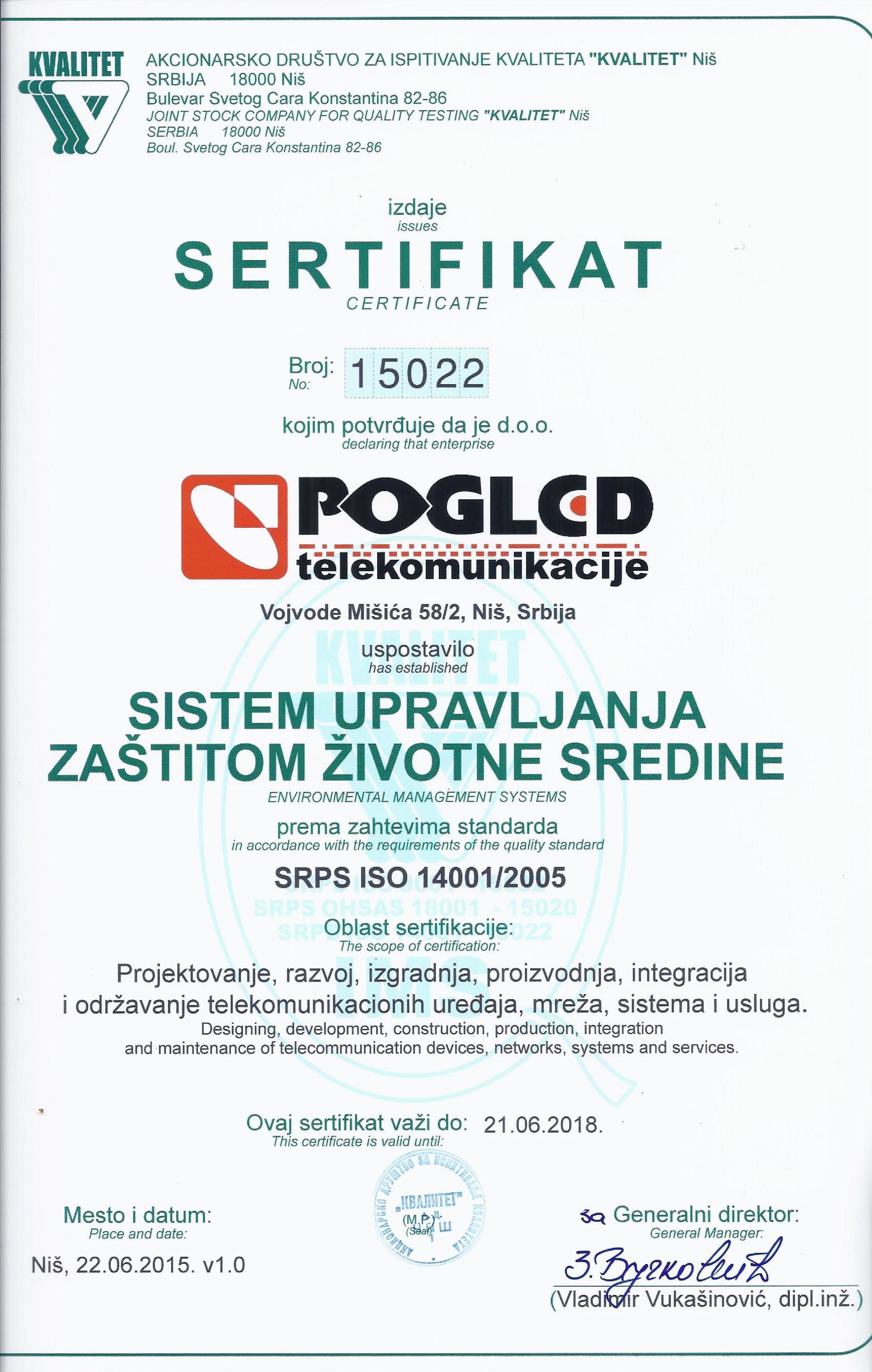 Sertifikat 14001